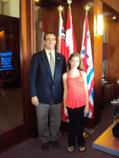 Robyn with Mayor Mark Gerretsen, Kingston, ON